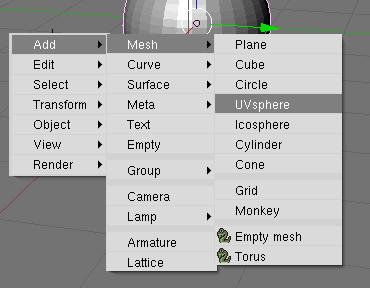 Создание mesh-объекта Сферы