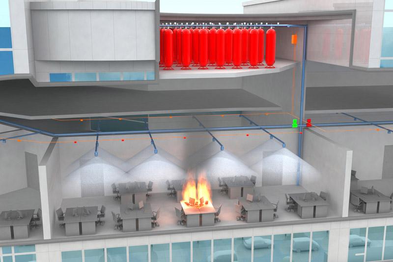 Автоматизированная система пожаротушения